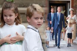 I principi George e Charlotte della famiglia reale inglese