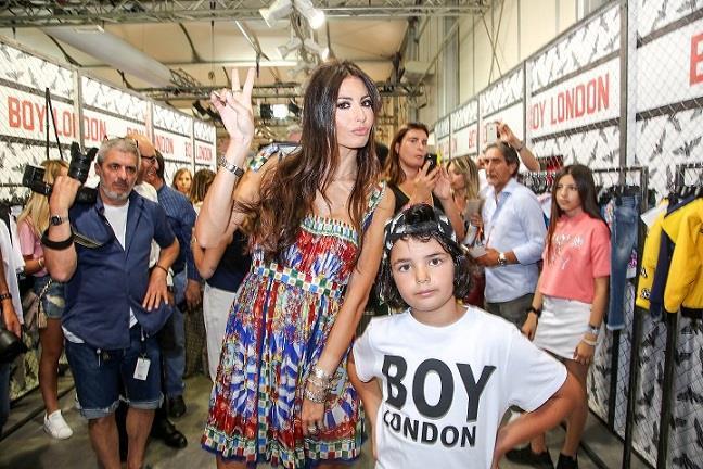 Elisabetta Gregoraci e il figlio Nathan Falco a Pitti Bimbo