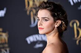 Un intenso primo piano dell'attrice Emma Watson