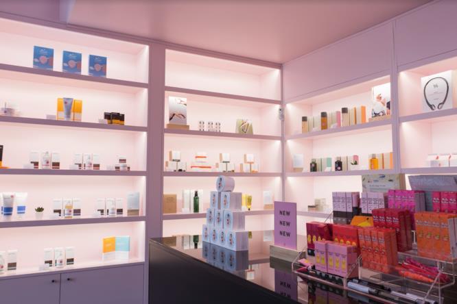 L'interno di Miin Cosmetics a Milano