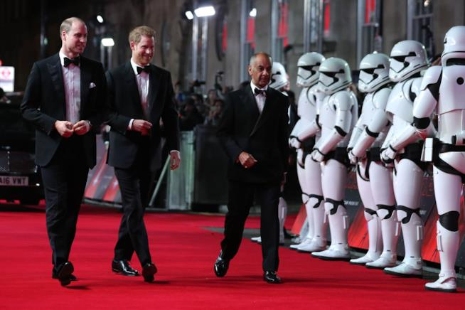 Harry e William sul red carpet del film Star Wars: Gli ultimi Jedi