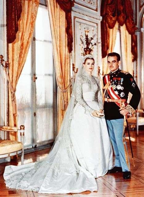 Grace Kelly e Ranieri di Monaco sposi
