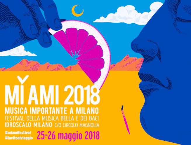 La locandina del Mi Ami Festival 2018