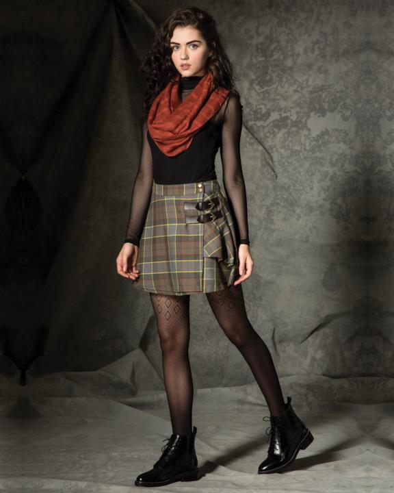 Collezione donna Outlander di Hot Topic: gonna tartan corta