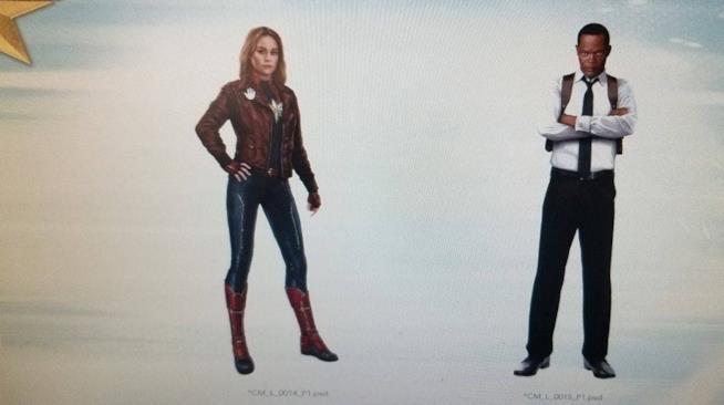 Promo art Captain Marvel e Nick Fury
