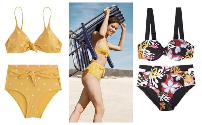 A pois e fiori, i bikini di moda per l'estate 2018