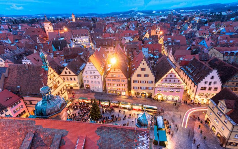 Marktplatz a Rothenburg ob der Tauber