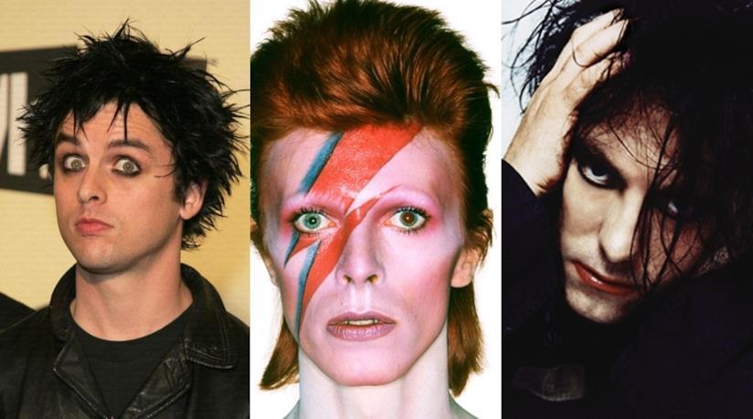 il frontman dei Green Day, David Bowie per l'album Aladdin Sane, Robert Smith The Cure