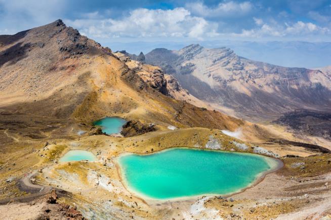 Emerald Lakes, Parco Nazionale di Tongariro, Nuova Zelanda
