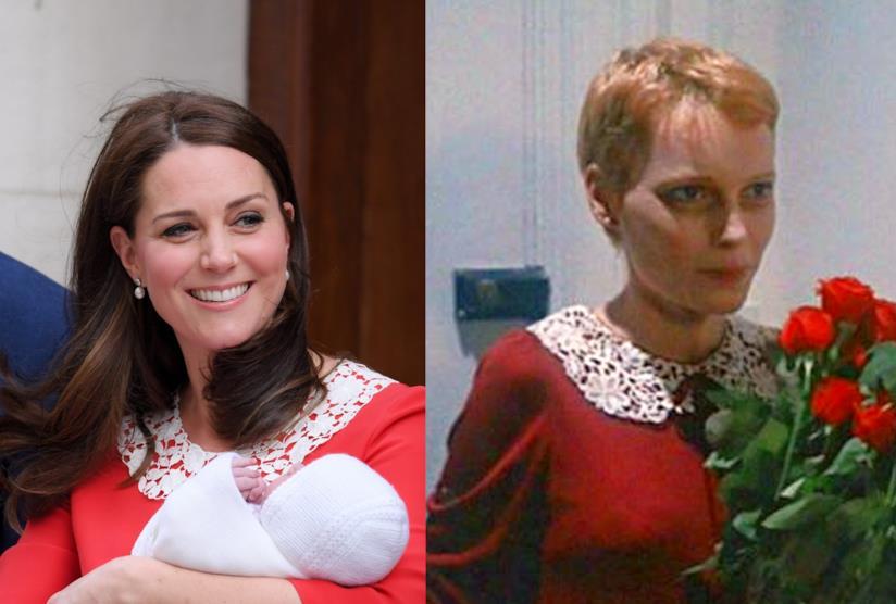 Foto a confronto di Kate Middleton e Mia Farrow