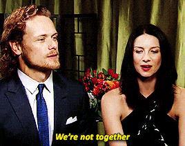 Caitriona dice di non stare insieme con Sam
