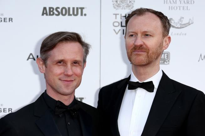 La coppia formata da Ian Hallard e Mark Gatiss.