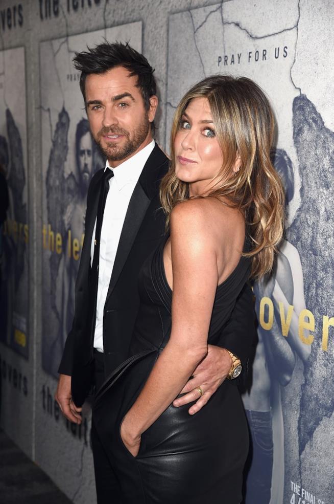 Jennifer Aniston e Justin Theroux a un evento