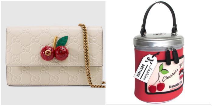 Borse con ciliegie Gucci e Braccialini