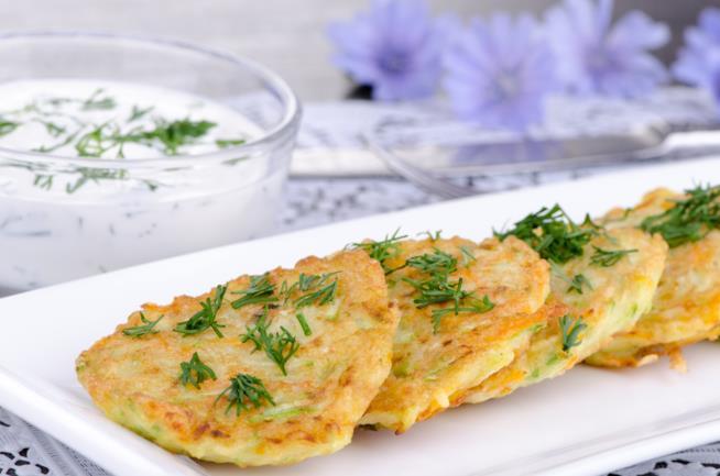 Pancakes salati con verdure