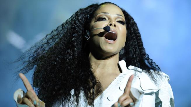 Un primo piano di Janet Jackson