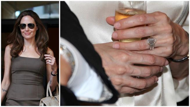 L'anello di fidanzamento di Brad Pitt per Angelina Jolie