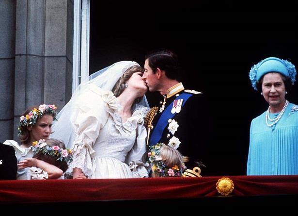 Diana e Carlo nel giorno delle nozze