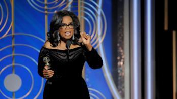 Oprah Winfrey ai Golden Globes 2018
