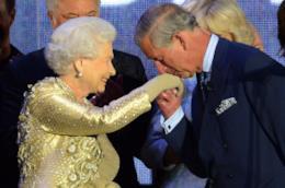 Carlo e la Regina Elisabetta