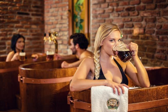 Relax alla birra in una spa praghese