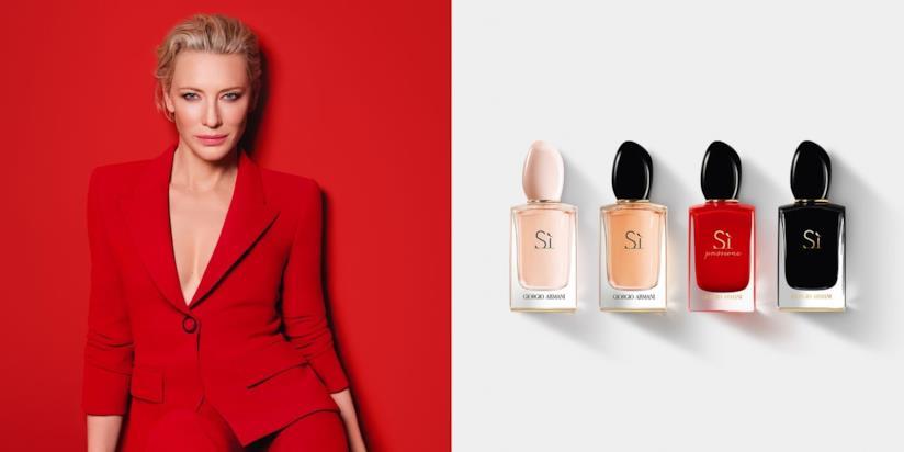 Cate Blanchett, attrice da oscar e testimonial della nuova fragranza Armani Sì Passione