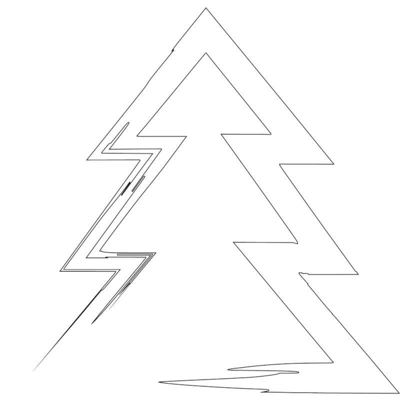 Albero di Natale stilizzato