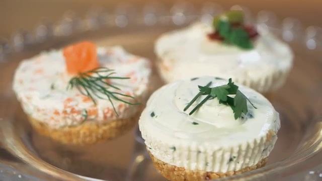 Mini cheesecake salate alla ricotta