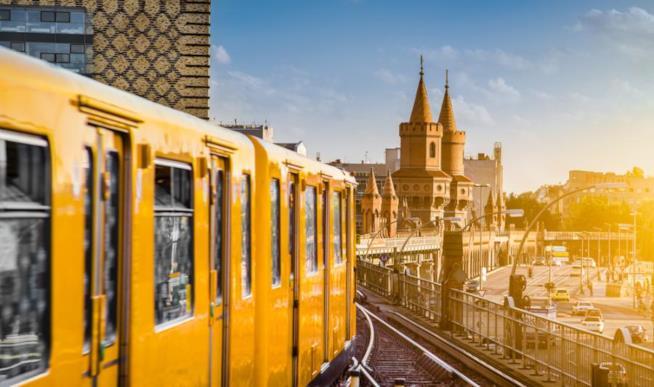 Il treno giallo a Berlino