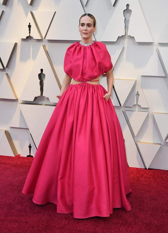 Sarah Paulson sul red carpet degli Oscar