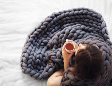 Coperta lana gigante