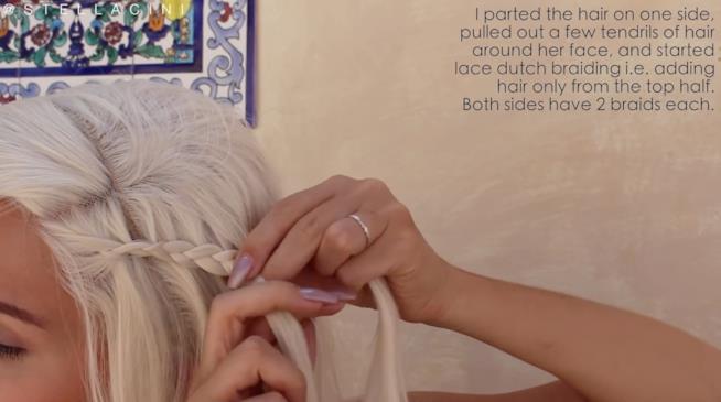 Treccia laterale capelli Daenerys Targaryen