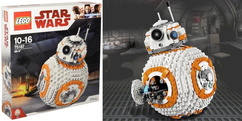 La confezione LEGO per costruire BB-8 e l'oggetto costruito