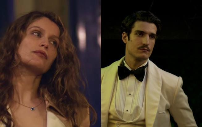 Laetitia Casta nel film 11 donne a Parigi e Louis Garrel in Saint Laurent