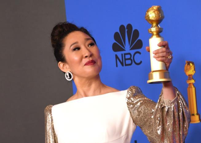 Golden Globe Awards: un'immagine di Sandra Oh