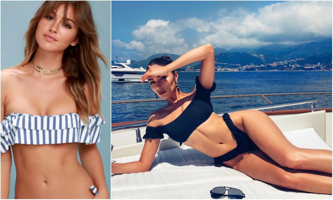 Modelli di bikini off-the-shoulder