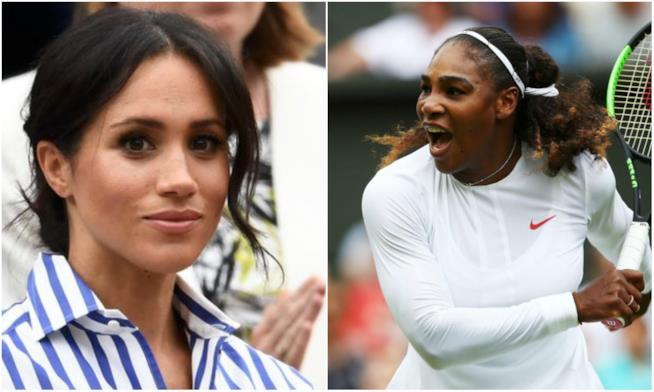 Collage tra Meghan Markle e Serena Williams