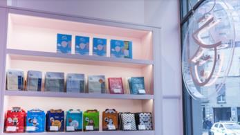 L'interno dello store Miin Cosmetics di Milano