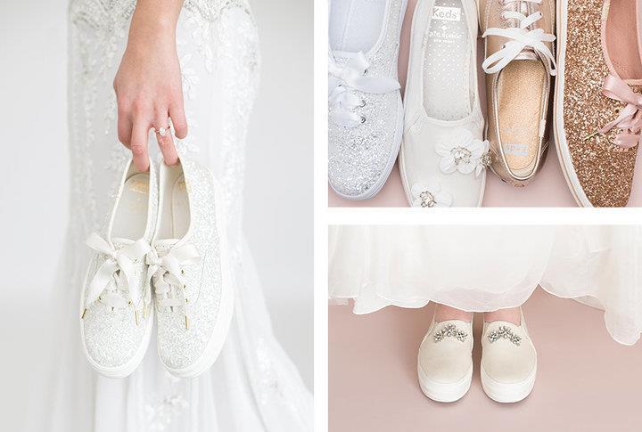 La designer Kate Spade ha realizzato sneakers per la sposa
