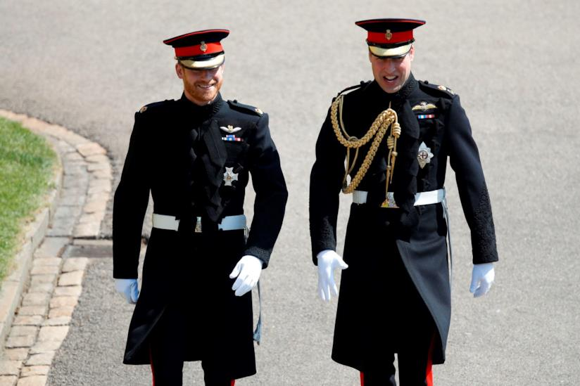 Harry e William nel giorno del Royal Wedding