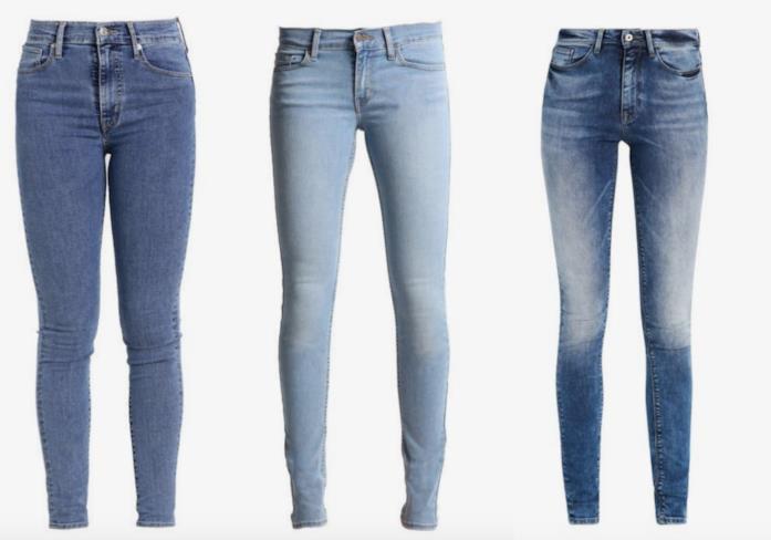 Collage di jeans skinny