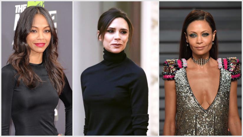 Zoe Saldana, Victoria Beckham, Thandie Newton