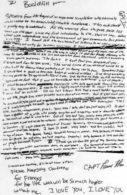 La lettera che Kurt Cobain ha scritto prima del suicidio