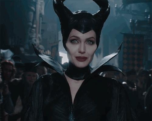 Angelina Jolie in una scena del live-action Maleficent