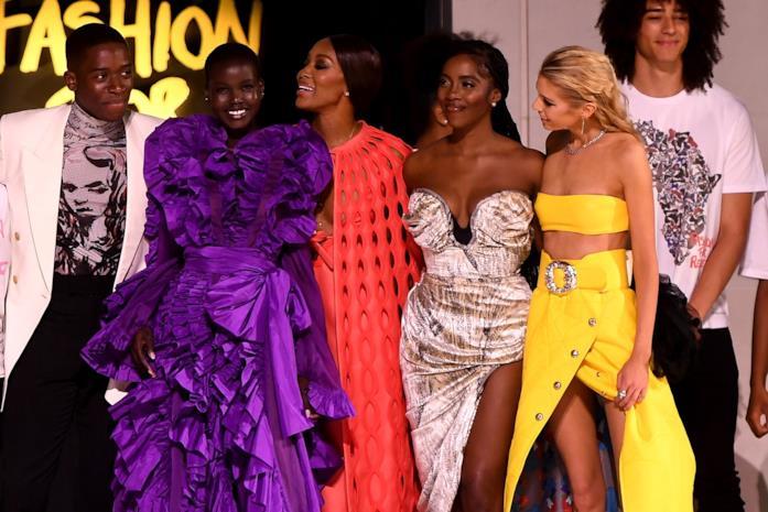 Un momento della sfilata Fashion for Relief