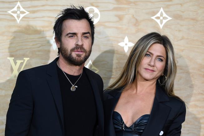 Jennifer Aniston e Justin Theroux a una serata Vuitton