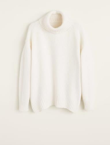 Pullover oversize bianco
