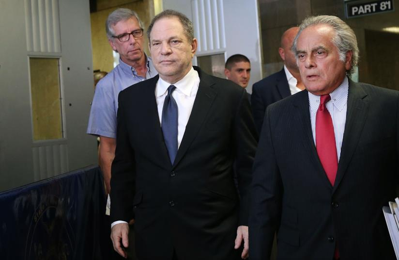 Harvey Weinstein durante una causa in Tribunale