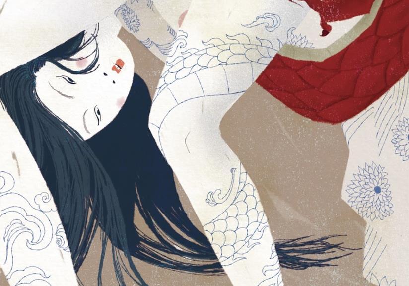La illustratrice Carla Manea ha disegnato le Asiatiche per la mostra erotica del 2017 Drawjob