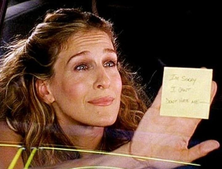 Carrie Bradshaw nel celebre episodio del post-it